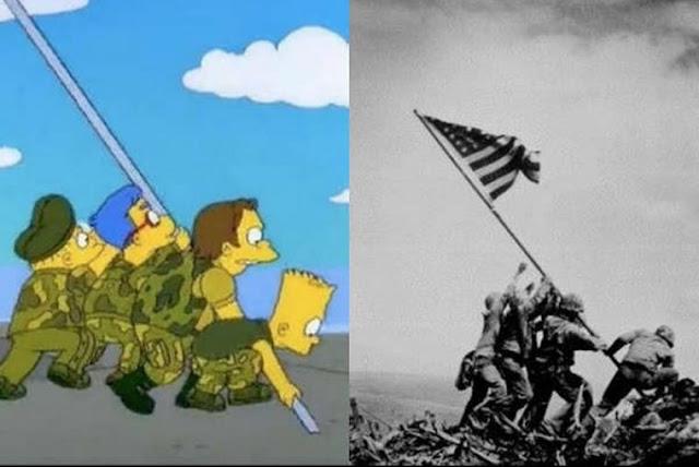La bandera de Iwo Jima, Los Simpsons