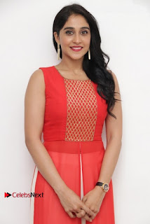 Actress Model Regina Candra Latest Pos in Beautiful Red Dress  0009.jpg