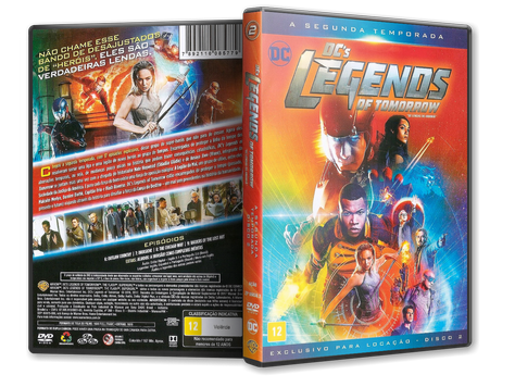 Capa DVD DC's Legends of Tomorrow - Segunda Temporada - Disco 2