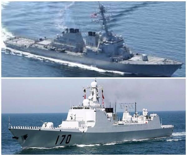 Tàu khu trục Mỹ USS Decatur (ảnh trên), bị chiếc  Tàu Lan Châu 170 Trung Quố