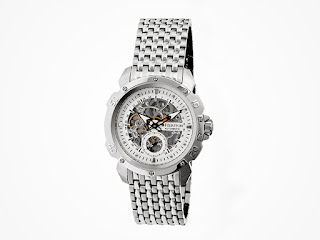 Heritor Stainless Steel Carter Watch
