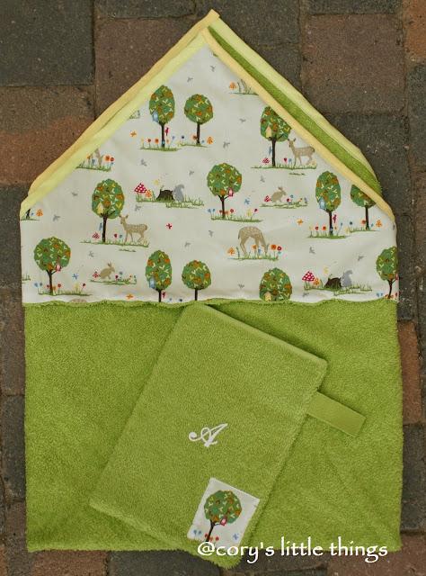 """Lovely nature"" Baby towel / Prosop pentru bebe ""Natura minunata"""