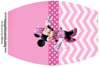 Coqueta Minnie en Rosa: Etiquetas para Candy Bar para Imprimir Gratis.