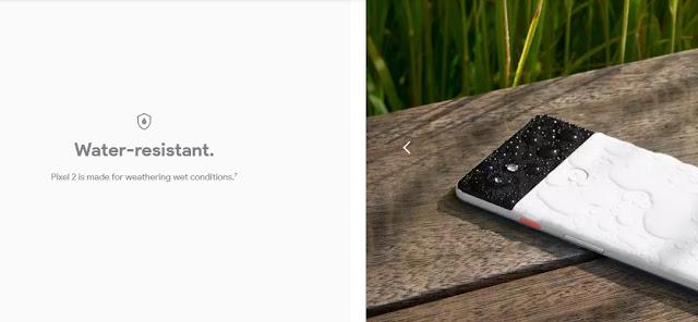 google pixel 2 tahan air