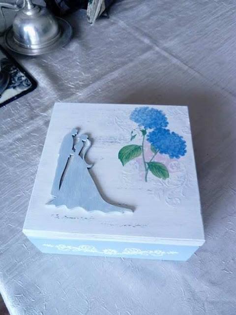 Inspiracje ze świata przyrody – pastelowe pudełko ślubne z hortensją ;)