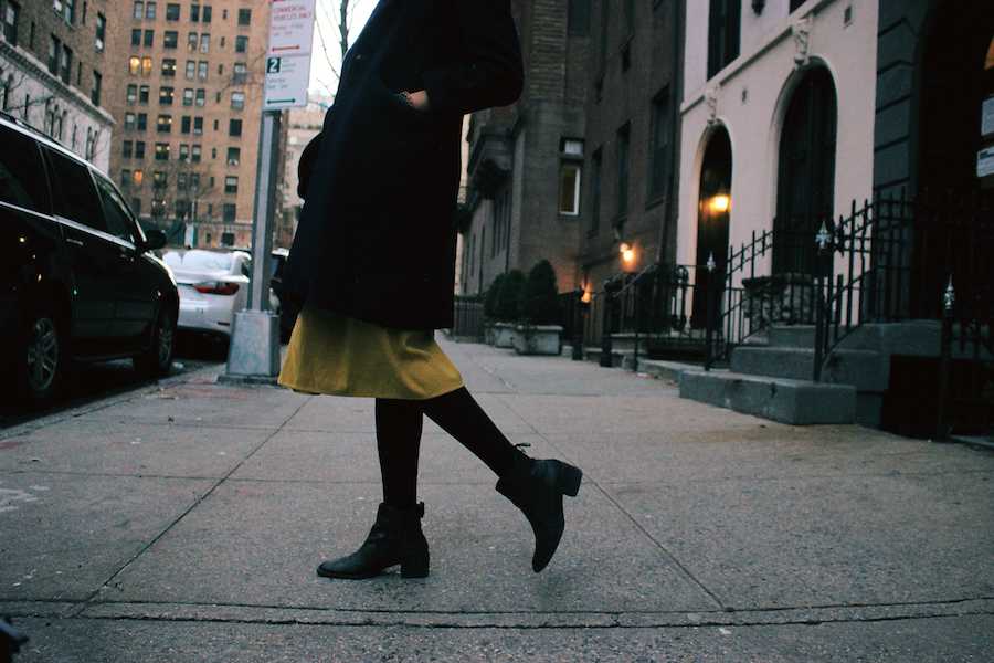 Shoes and bottom details winter NYC lookbook