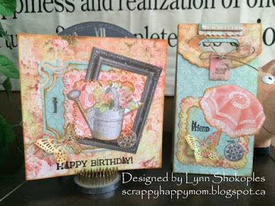 Happy Birthday Beautiful Card and Gift Bag by Lynn Shokoples for BoBunny featuring the Soiree Collection