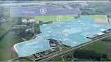 Uit welke zones bestaat het bedrijventerrein Zone Evergem?