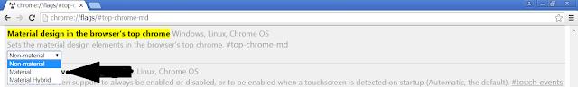 chrome://flags/#top-chrome-md