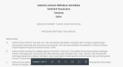 Berikut ini yaitu kutipan undang undang no Undang-Undang No. 6 Tahun 2014 Tentang Desa