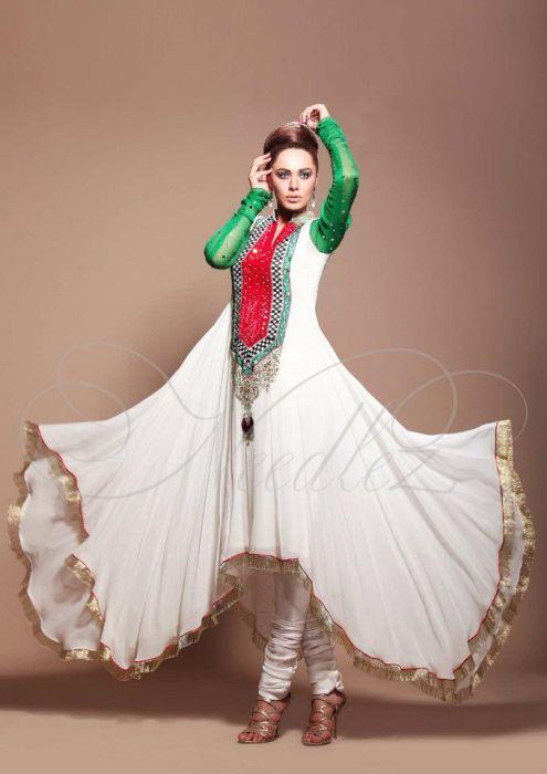 Best Stylish Nail Art Ideas 2013: Best Fashion Pakistani Dresses Collection 2013