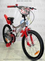 20 Inch Family Champion Suspension BMX Bike Silver/Red