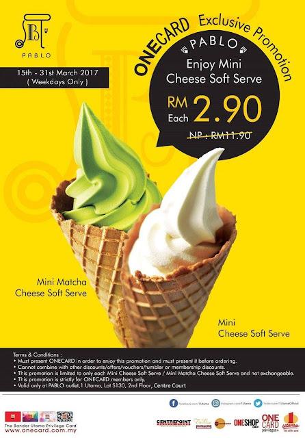 Pablo Cheesetart Mini Matcha Cheese Soft Serve Discount Promo