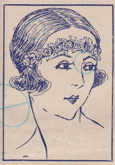 The Vintage Pattern Files: 1920s Free Crochet Pattern - Les Roses Hairband 1924