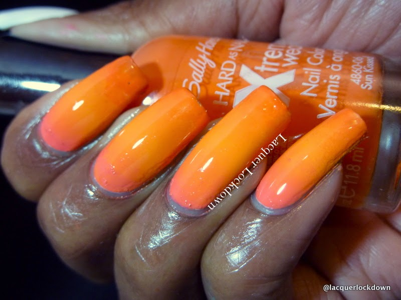 Lacquer Lockdown - proud beauty bloggers of color, orange nail art, summer nail art, nail art stamping blog, sally hansen insta dri Man-go Team, Sally Hansen Insta X-treme Wear Coral Reef, sally hansen x-treme wear sun kissed, DRK Nails, DRK Nails Designer Series 1, DRK Nails Designer Series 2, DRK stamping plates, DRK nail art stamping plates, nail art stamping, nail art, diy nail art, cute nail art ideas, nail art summer, gradient nail art, rica whiteout