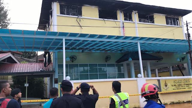 Gambar kebakaran pusat tahfiz Jalan Keramat Ujung