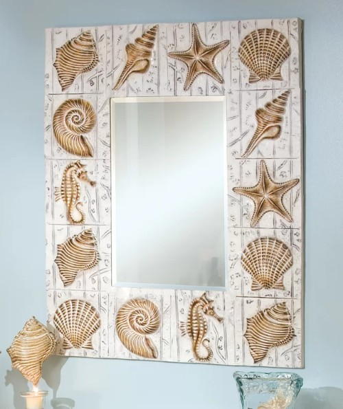 Metal Sea Shell Mirror