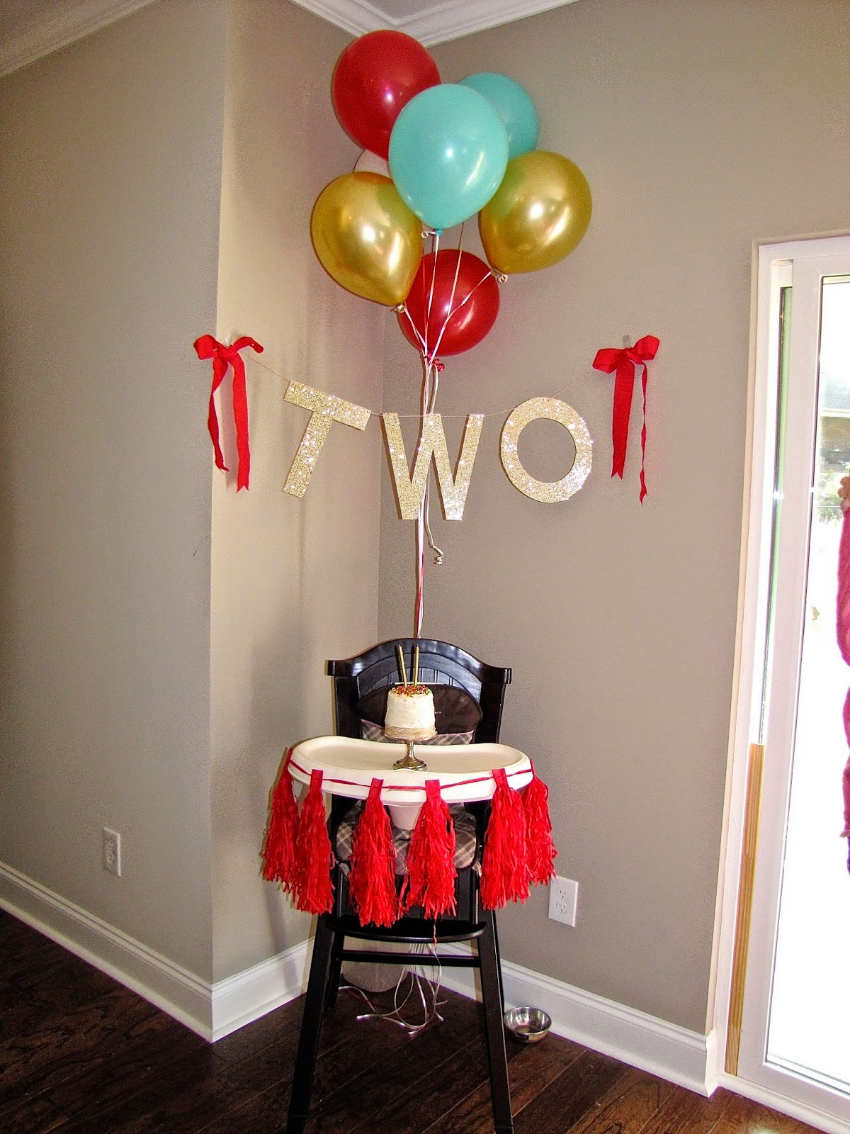high chair decorations for kids party