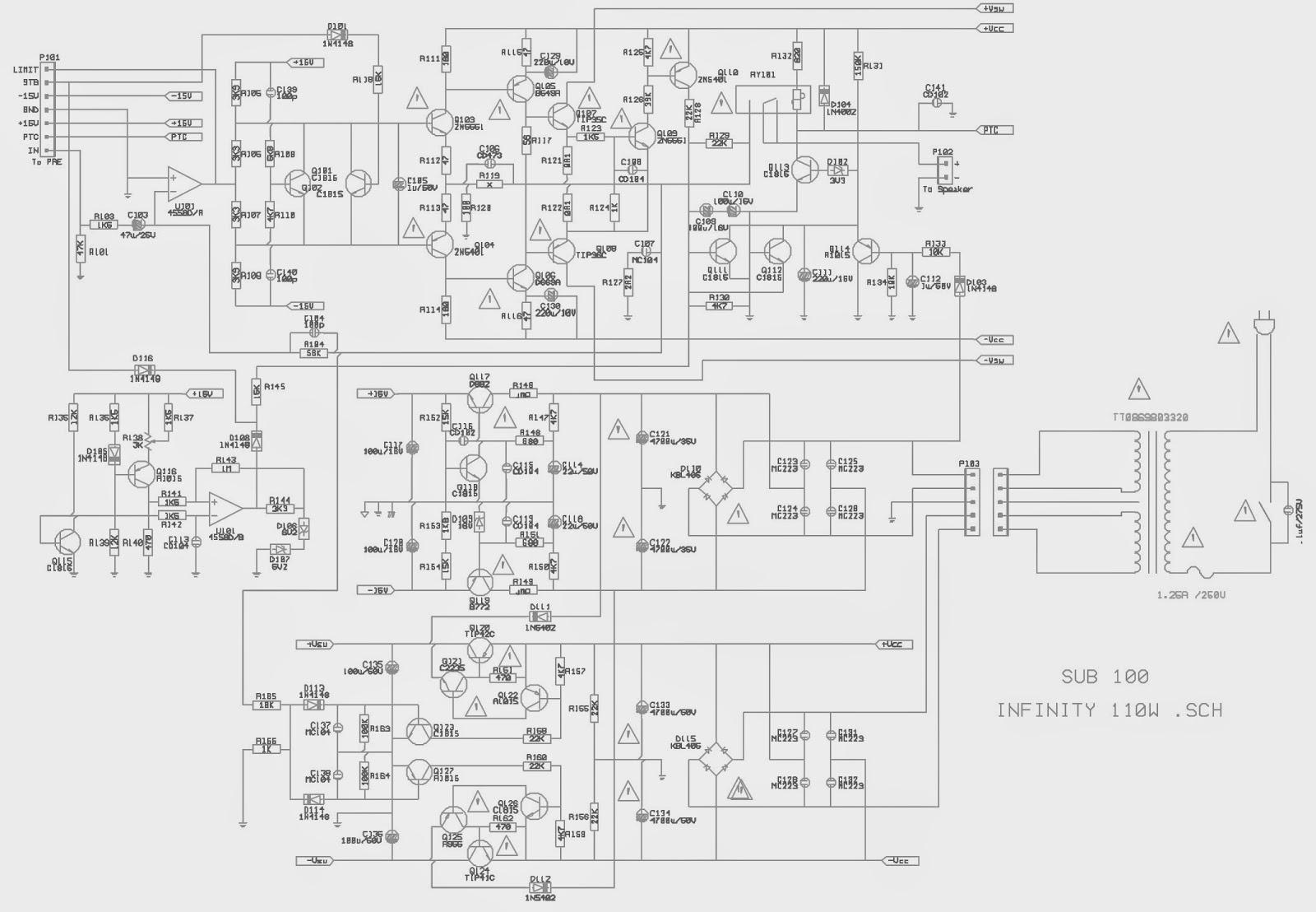 Electro Help Infinity Modulus Sub Amplifier Sub 100 Hts