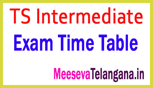 TS Intermediate 1st 2nd year Exam Time Table