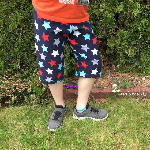 bequeme selbgenähte Shorts für Jungs