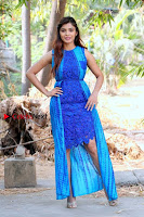 Tamil Actress Sanchita Shetty Latest Pos in Blue Dress at Yenda Thalaiyila Yenna Vekkala Audio Launch  0029.jpg