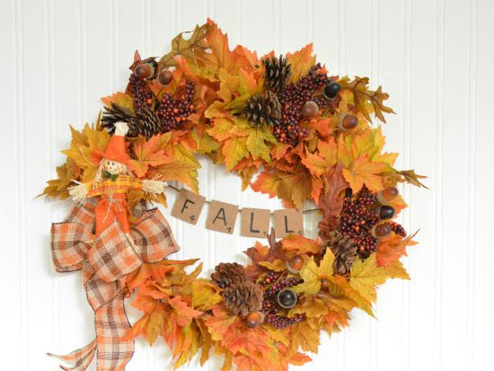 An Easy Peasy DIY Fall Wreath With Mini Banner