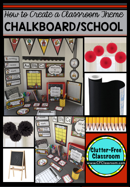 Classroom Chalk Decor ~ Chalkboard themed classroom ideas printable