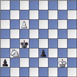 Estudio de Francesc Vivas Font, Fritz JT 1982, posición después de 7.c6!!