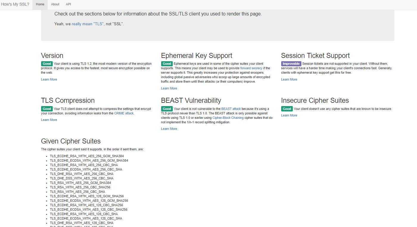 Ken Felix Security Blog: Generic SSL analyze website for web