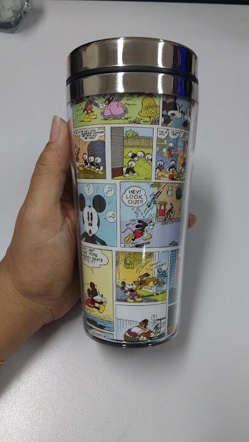 Meus Recebidos da Loja Geek10, copo térmico mickey