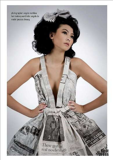 How To Recycle: Recycled Newspaper Dresses