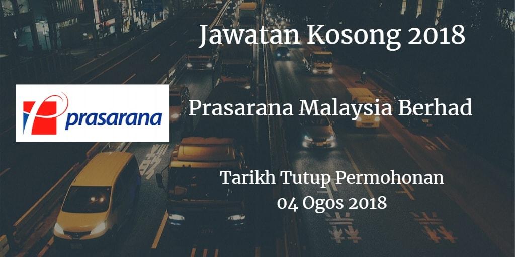 Jawatan Kosong Prasarana Malaysia Berhad 04 Ogos 2018