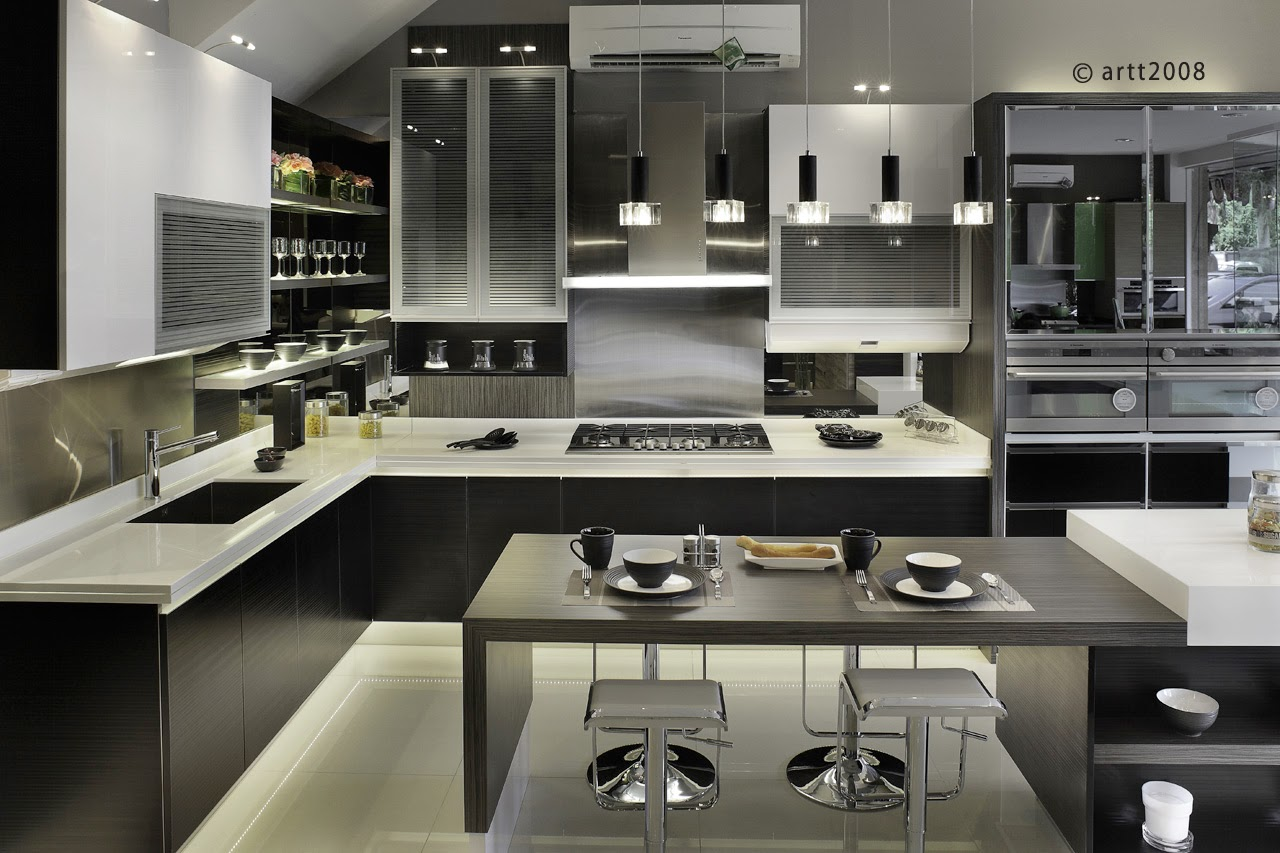 Kitchen Set Black White