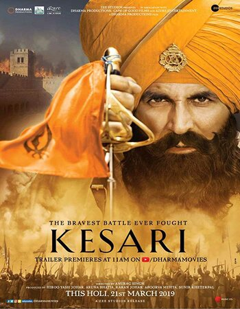 Kesari (2019) Hindi 720p ORG HDRip x264 1.2GB ESubs Movie Download