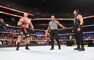 WWE fans notice Brock Lesnar made huge mistake during the finish of SummerSlam match