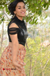 Actress Chetana Uttej Stills in Floral Long Skirt at Pichiga Nachav Movie Press Meet  0017.JPG