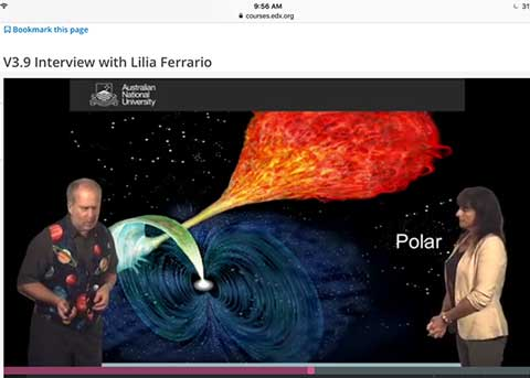 Screenshot from Astrophysics: The Violent Universe (Source: ANU and www.edX.org)