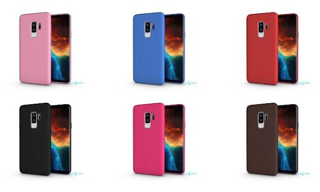 Penampakan gambar renders Samsung Galaxy S9+ dalam balutan case warna-warni imut terlihat!
