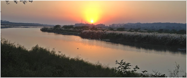 Ropar, Beas, Sunset, Reflection,
