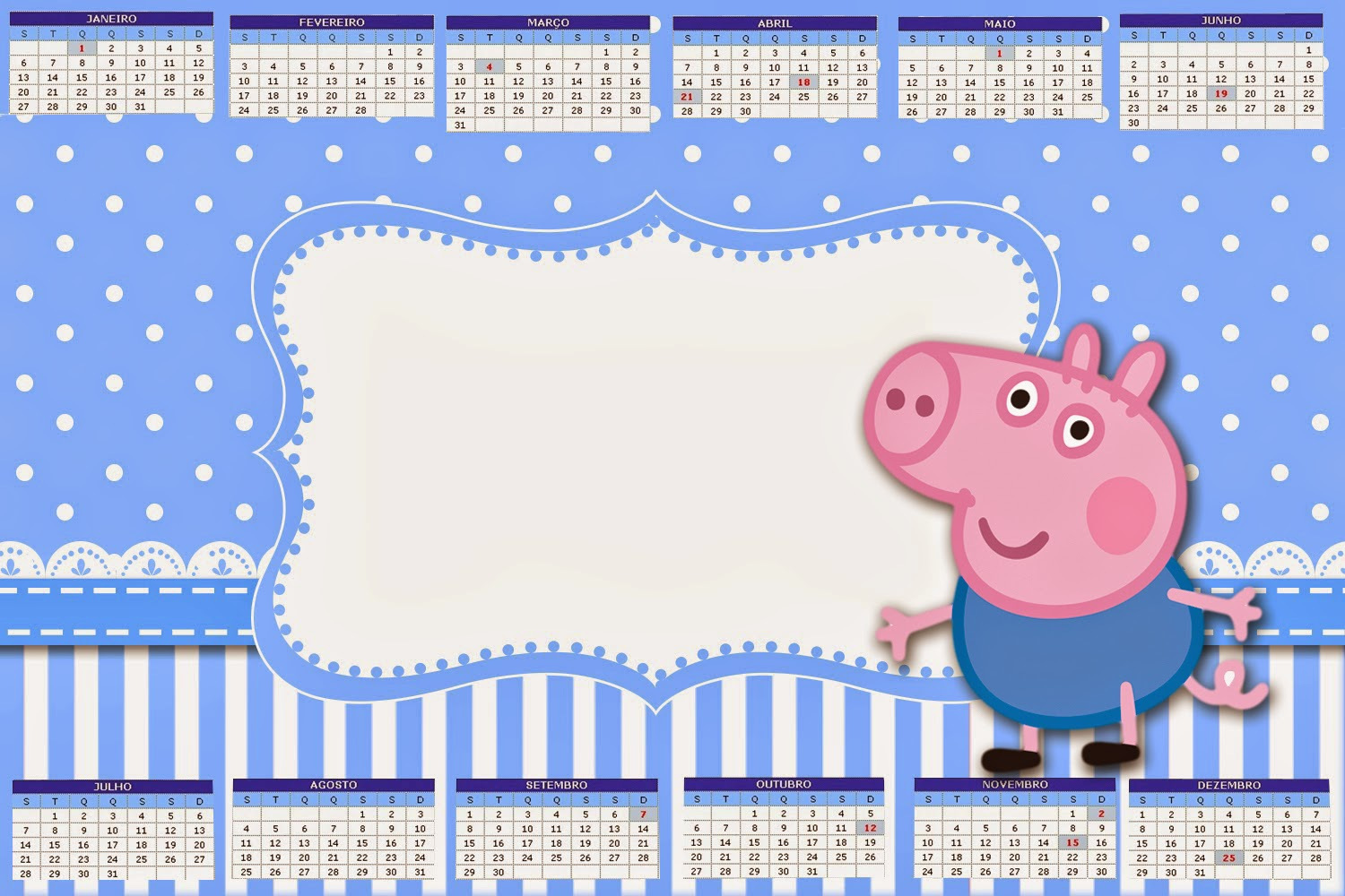George Pig Free Party Printables and Images Oh My Fiesta in english