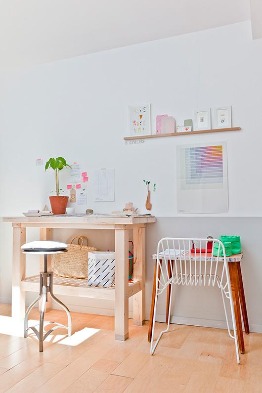 espacio de trabajo nórdico escandinavo vintage