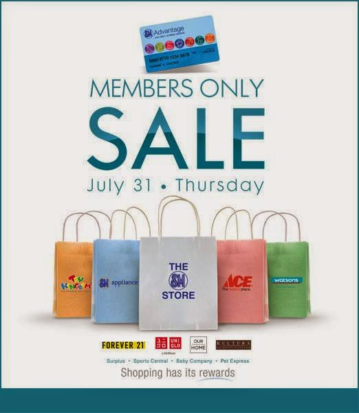 1c4bf419b746 SM Advantage Members Only One-Day SALE  July 31 2014