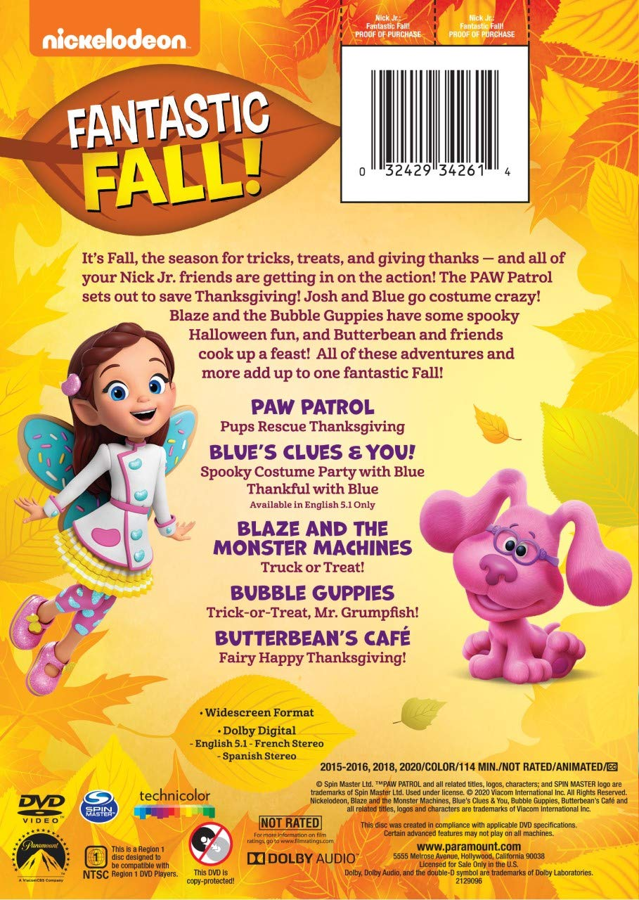 Nickelodeon 2020 Halloween Dvd NickALive!: Nickelodeon to Release 'Nick Jr.: Fantastic Fall!' on
