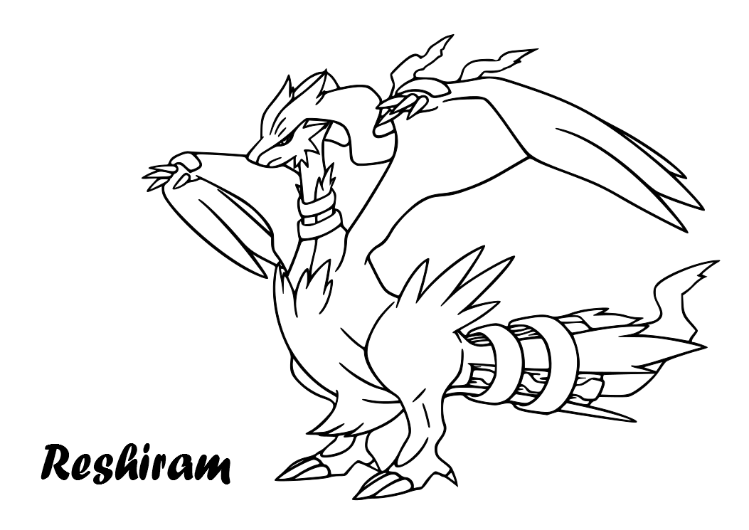 zekrom ex coloring pages - photo#9