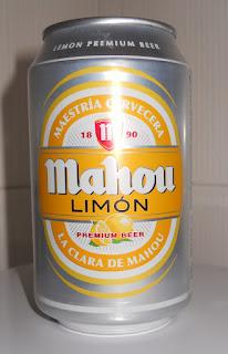 lata de cerveza mahou limon