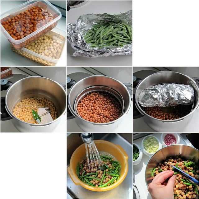 bean salad step-by-step photos