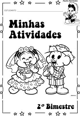 Capas para avaliações Festas Juninas Turma da Mônica