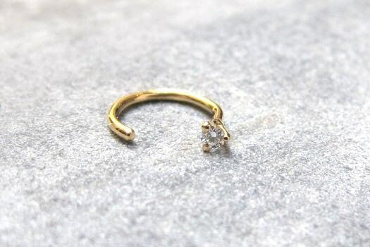 Boucle diamant or 18k Sansoeurs