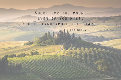 Famous Quotes About Life Changes: shoot for the moon,even if you miss, you'll land among the stars